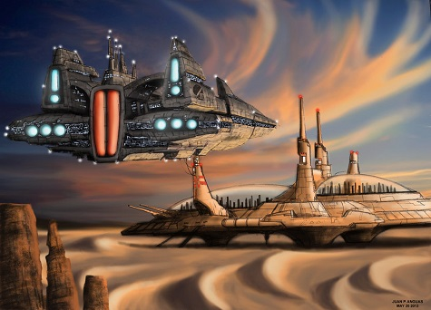guild_heighliner_arriving_to_arrakis_by_digipablo